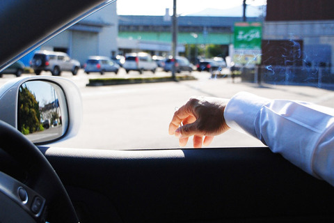 車の運転中にむかつく