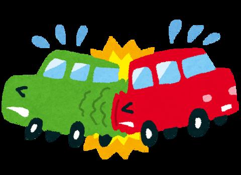初めて車で事故