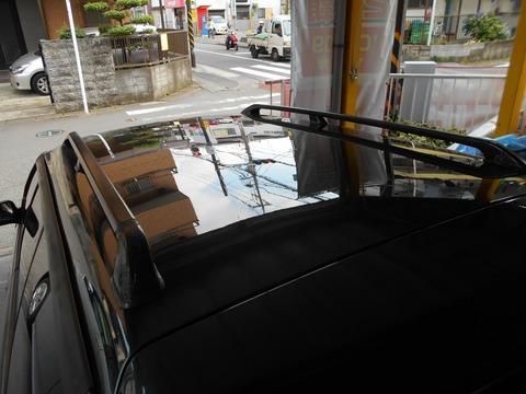 車の屋根だけ塗装