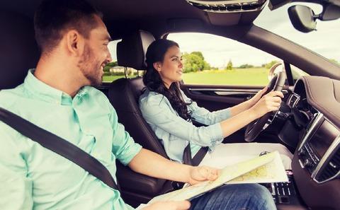 助手席で運転指導