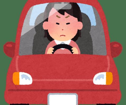 女ドライバーの道譲られたときにお礼しない率