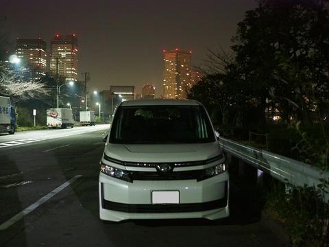 東京に遊びに来て車中泊
