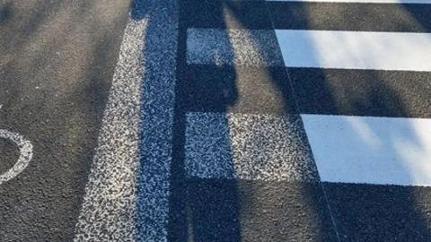 横断歩道を車道と勘違い