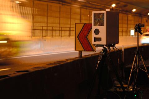 50キロ厳守の名古屋高速トンネル、取り締まりに新兵器