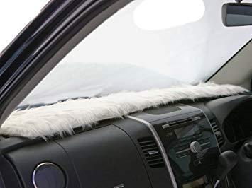 白いフワフワ買って車の前につけたい