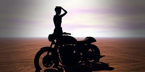 バイクが趣味の女