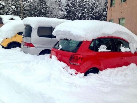 雪で車出せない