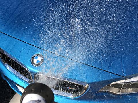 洗車中に雨