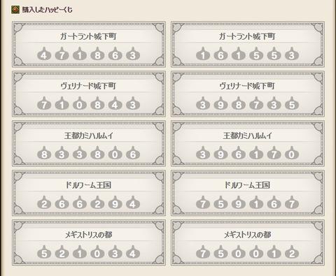 ハッピーくじ結果6