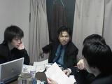 塾ミーティング−真ん中に菅沼さん