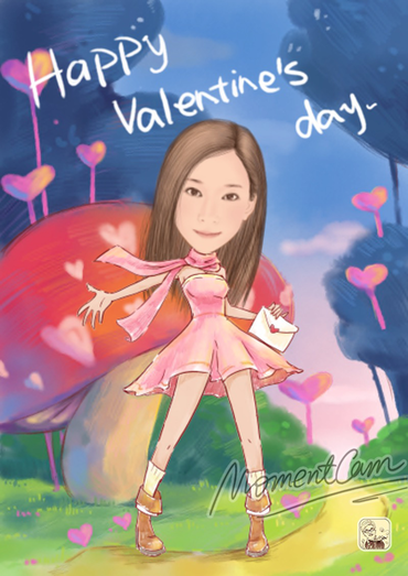 バレンタイン、イラストだけでも!