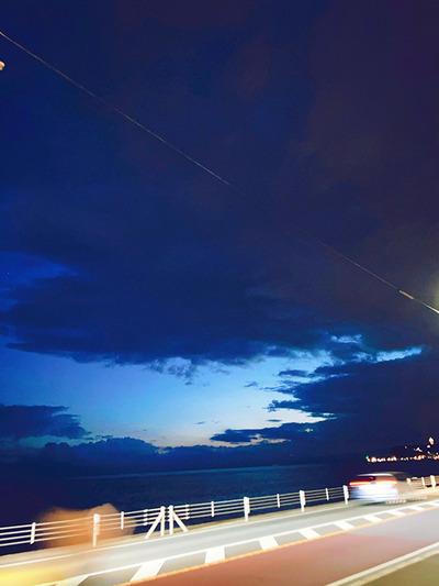 夜の七里ヶ浜