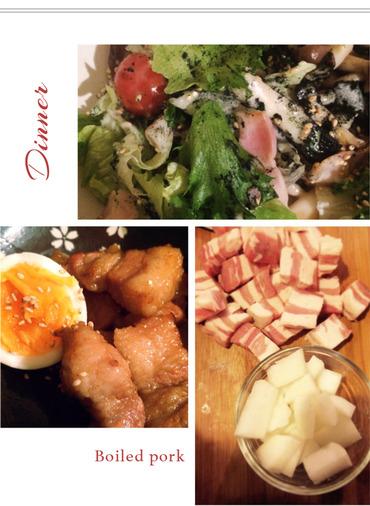 豚の角煮_夕飯