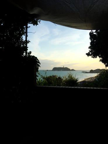 江ノ島が見えたぞ!