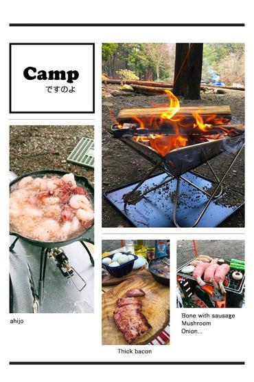 キャンプですのよ