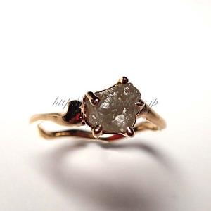 ダイアモンド原石リング2a001