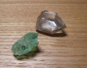 魚眼石と水晶