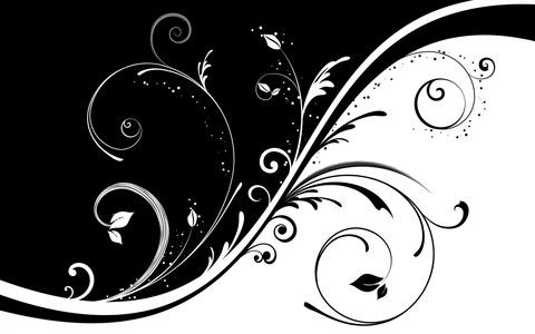 壁紙圖案,黑色和白色,捲曲-1200x1920