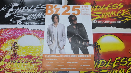 B'z LIVE-GYM Pleasure 2013-ENDLESS SUMMER- 会場配布物 『B'z 25 ...
