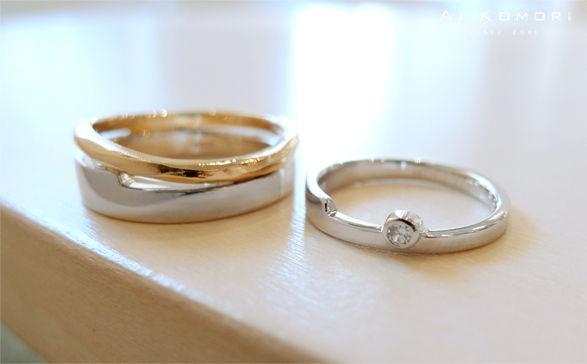 本当はサプライズで指輪を贈りたい彼氏さん。 でも好きなデザインを本人に選んでもらいたいという気持ちもあり、お2人で来店されました。