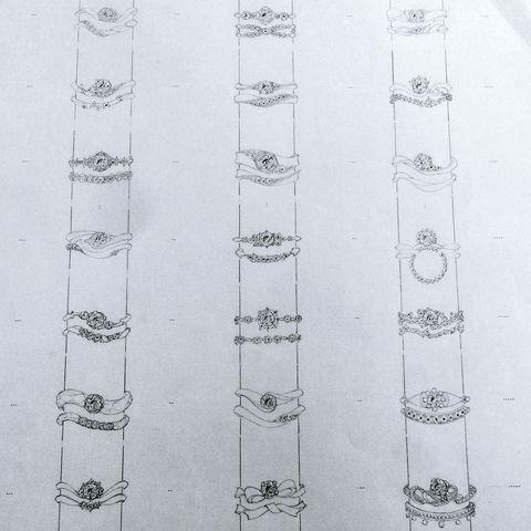 フルオーダーリング デザイン画