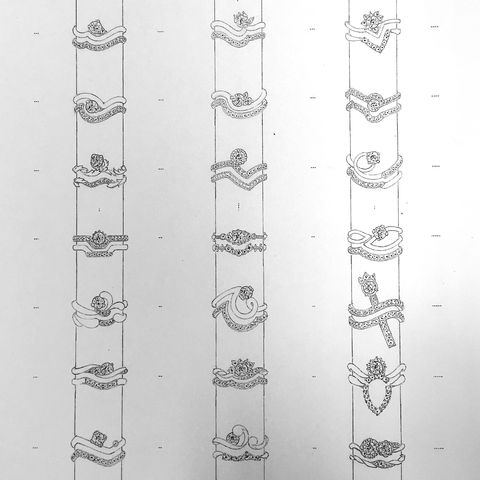フルオーダーリング デザイン画2
