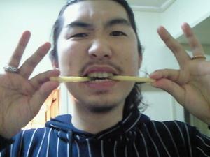 ポテロングの2本食い