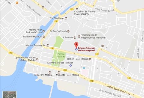 Dataran Pahlawan Melaka Megamall map