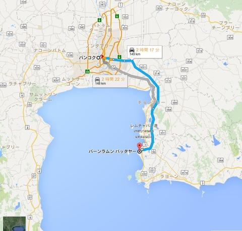 map_バンコク_パタヤ