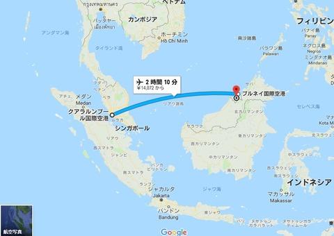 KLIA→Burnei_map