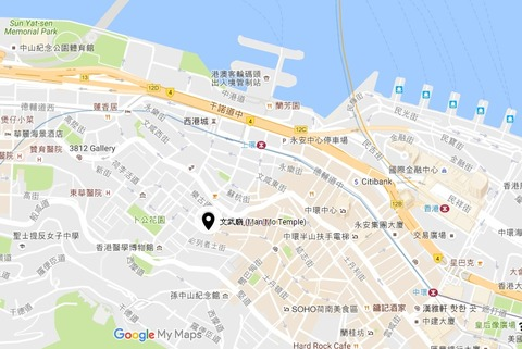 Man Mo Temple_文武廟map