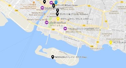 Malacca Straits Mosque map