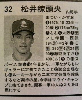松井稼頭央(20)