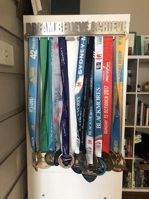 メダルハンガーを買いました。Dream Believe Achieve