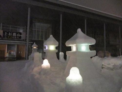 伝国の杜前雪灯篭まつり11