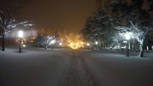 雪夜の上杉参道