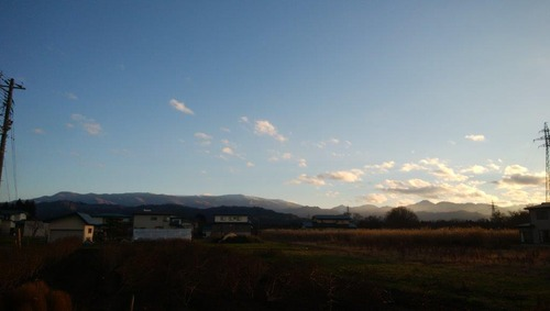 通町から望む吾妻山