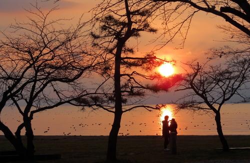 琵琶湖の夕景 その1