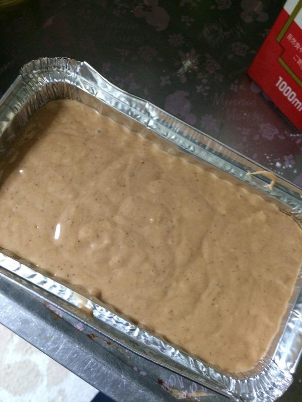 ココアパウンドケーキ作り