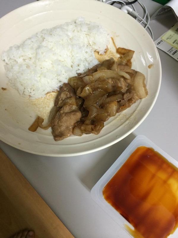 生姜焼きと豆腐