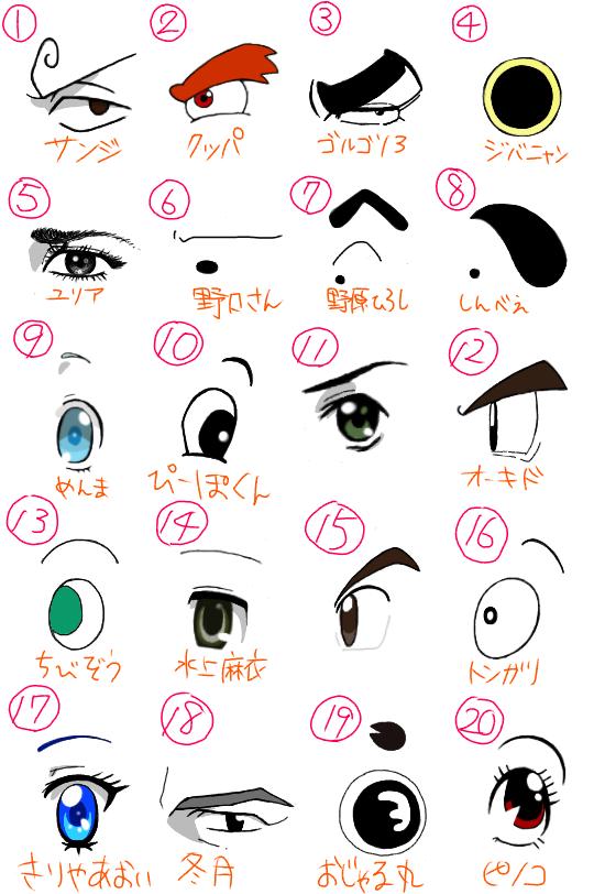 キャラクターの目 (2)