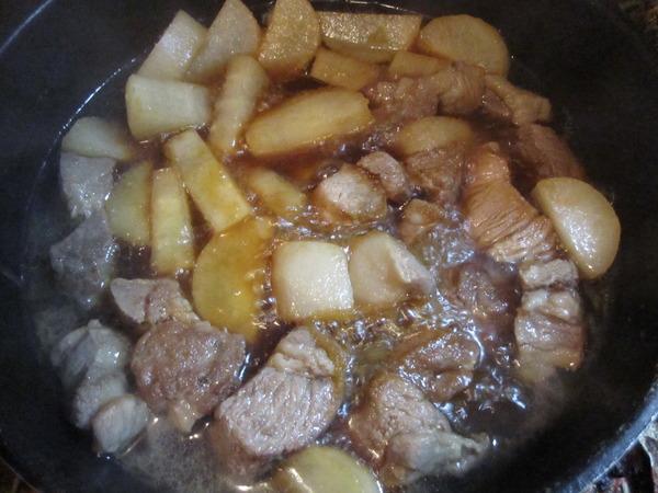 豚肉、大根4