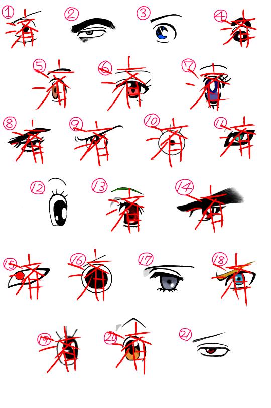 アニメキャラの目 (1)