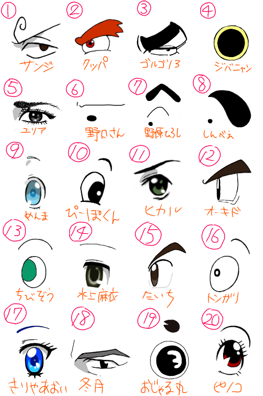 キャラクターの目 (4)