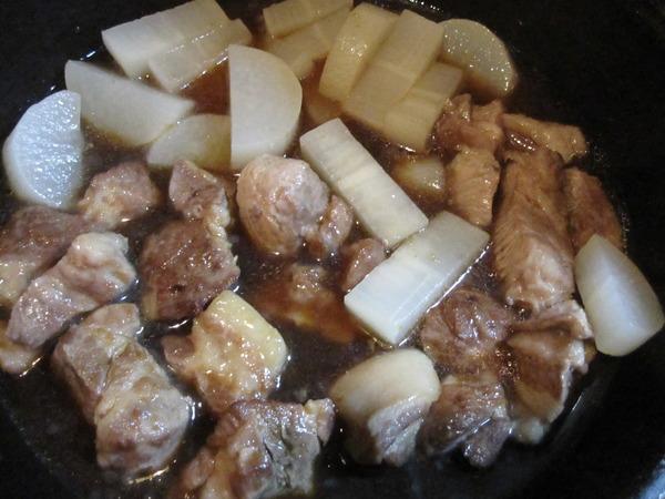 豚肉、大根3