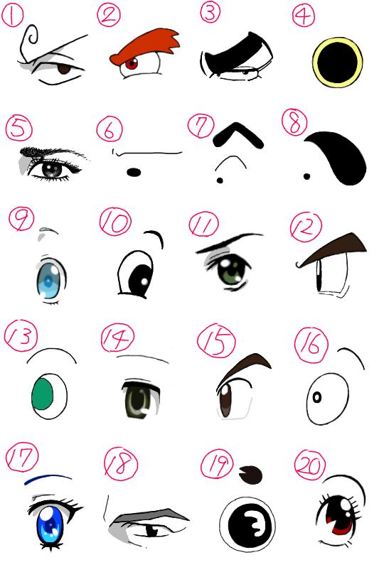 キャラクターの目