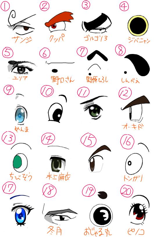 キャラクターの目 (1)