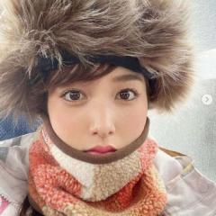 鷲見玲奈、ファー付き帽子の冬キャンプ姿に大反響「もふもふかわいい」