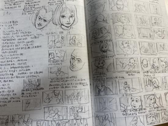 【画像】漫画家志望ワイ、ついに1ページ目を完成させるwww