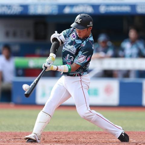ロッテ平沢大河(20) .216(102-22) 1本 13打点 出塁率.352 得点圏.320